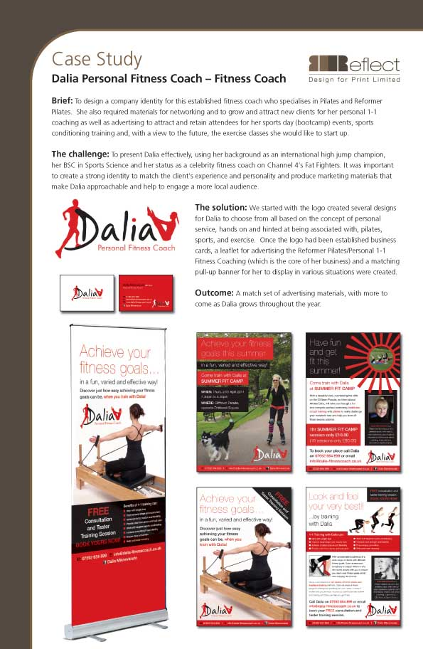 Reflect Design - Case Studies :  Dalia Fitness Coach