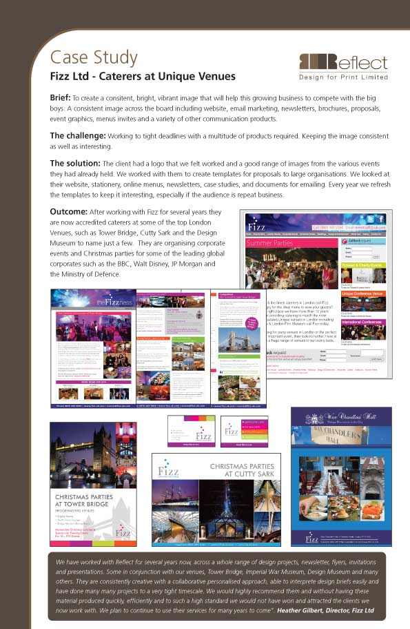 Reflect Design - Case Studies : Fizz Events