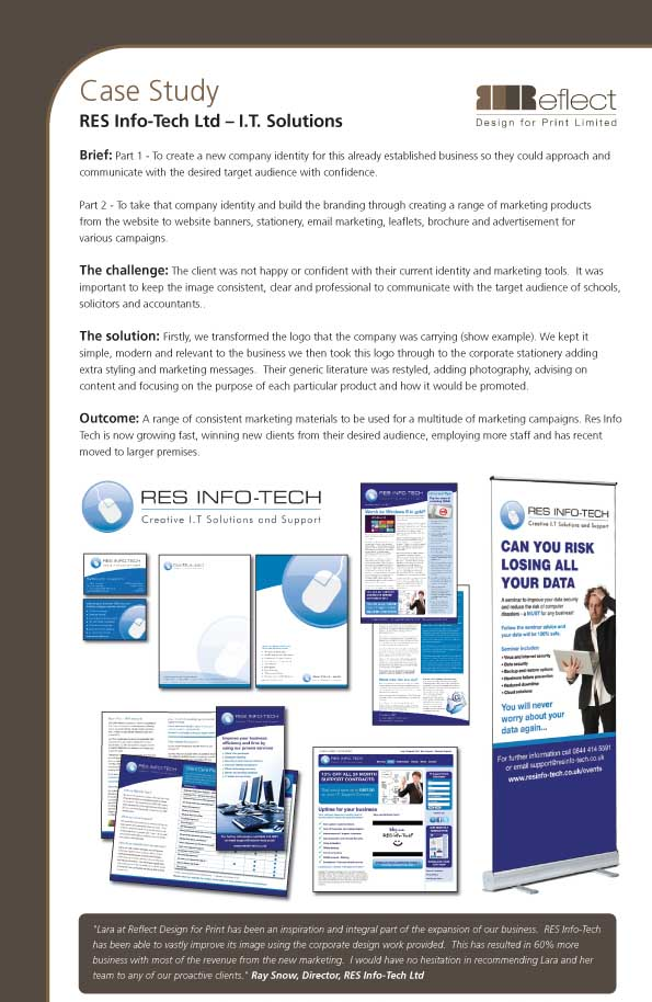 Reflect Design - Case Studies : Res Info Tech